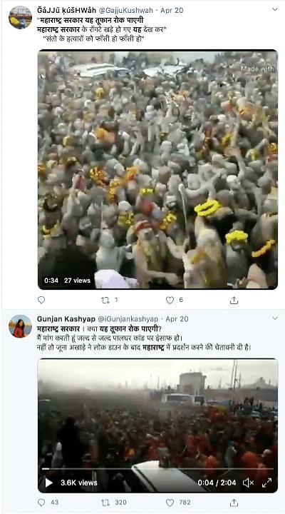 Old Kumbh Mela Clip Viral as Maharashtra Sadhus Protesting Palghar