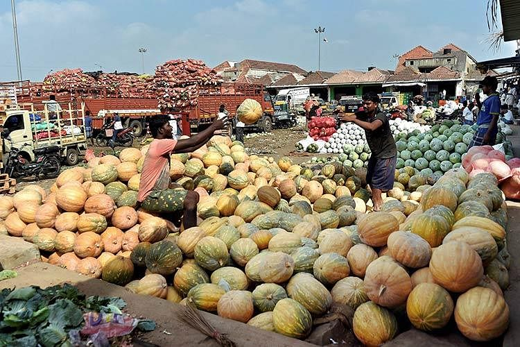 An undated picture of Koyambedu fruit market.