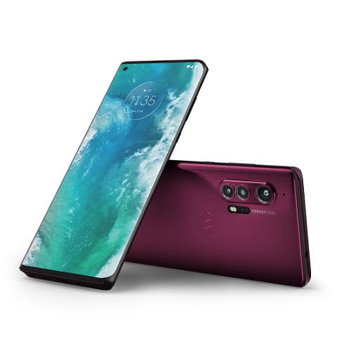 "The ""Endless Edge"" display on the Motorola Edge."
