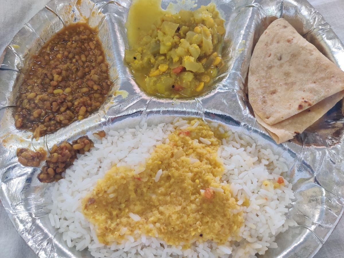 Food served at Kasturba Hospital.