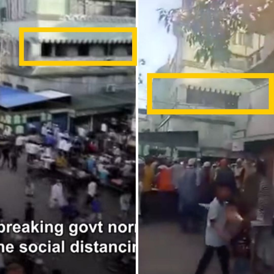 Video shared by News Outlets (L) and viral video (R)