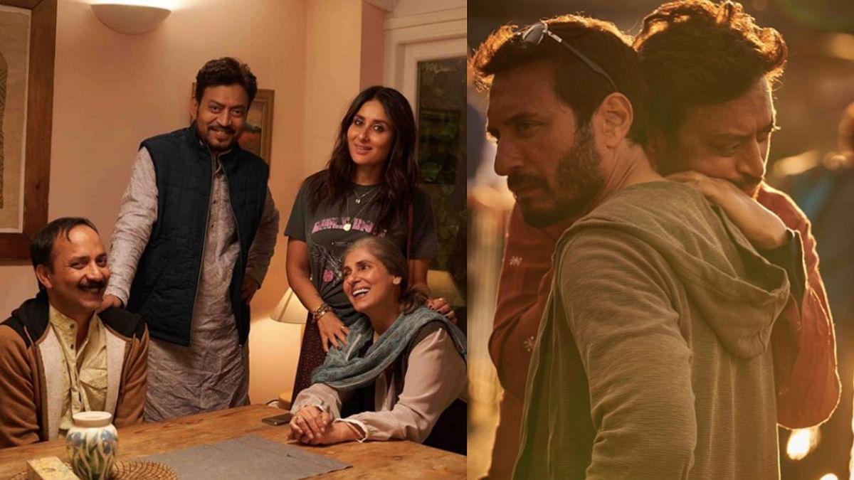 Irrfan Khan with the team of <i>Angrezi Medium.</i>