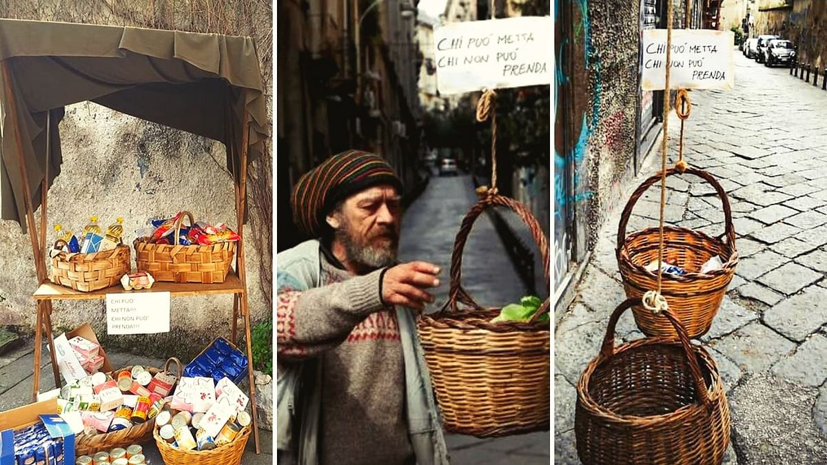 Italians Set Example of Generosity With Their 'Support Baskets'