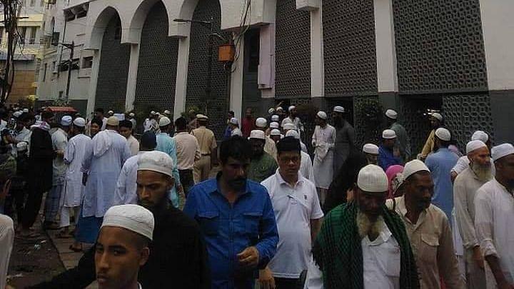 People outside the Tablighi Jamaat Markaz in Nizamuddin. (Image used for representational purposes.)