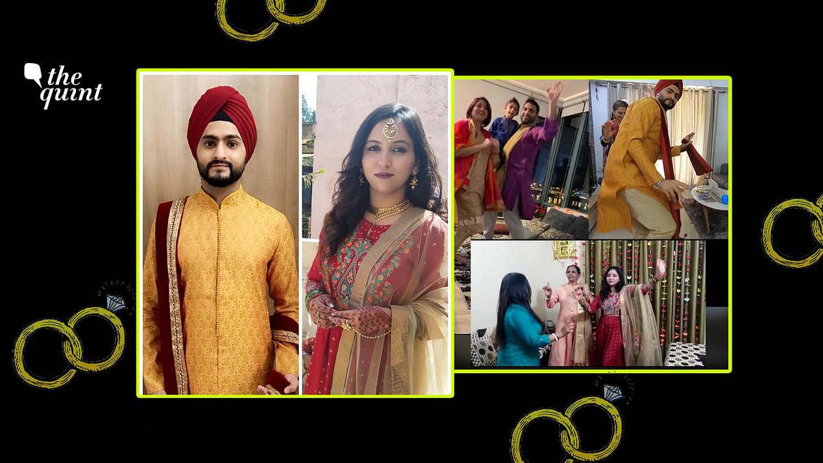 Preet Singh and Neet Kaur got married over a zoom call.