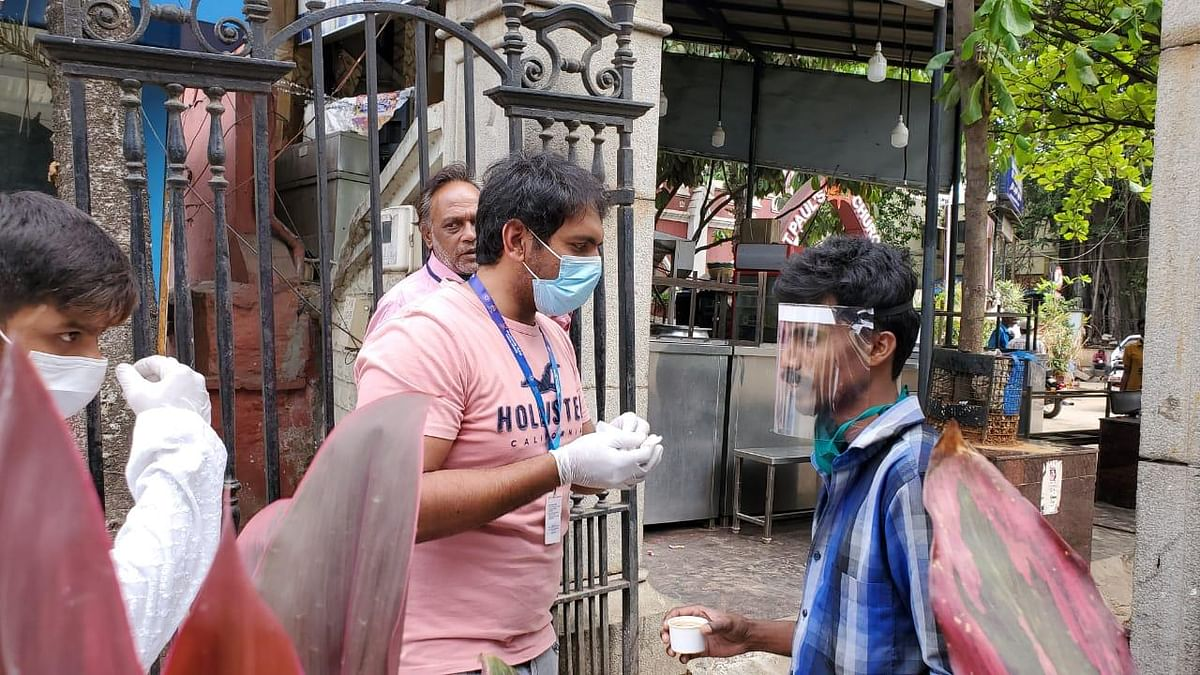 Face shields provided to sanitation workers.