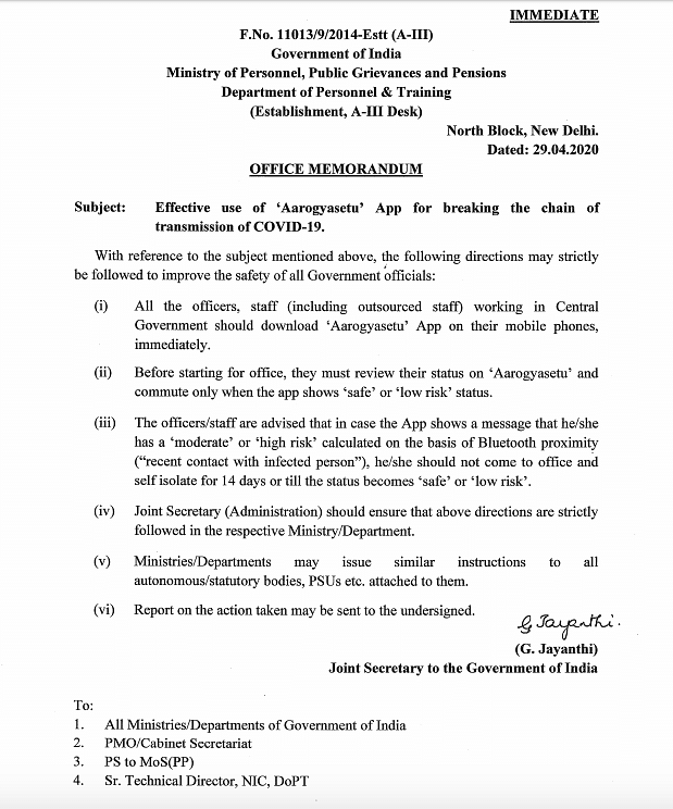 FAQ: Is it Mandatory to Download the Govt's Aarogya Setu App?