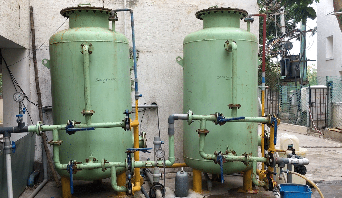 The sewage treatment plant system takes care of the total requirements of toilet flushing, gardening, cleaning of open areas.