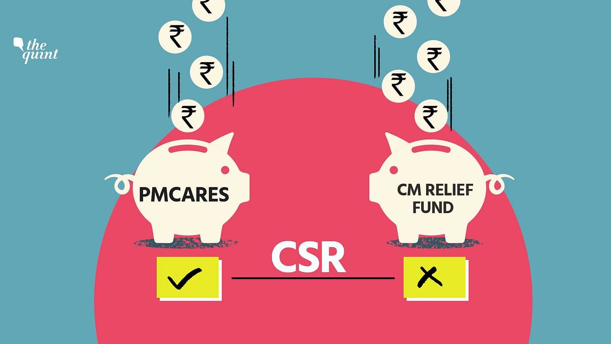 Corporate donations to the PMCARES Fund are being considered as CSR expenditure, but not those to the CM Relief Funds, as the latter are not covered by the Companies Act.