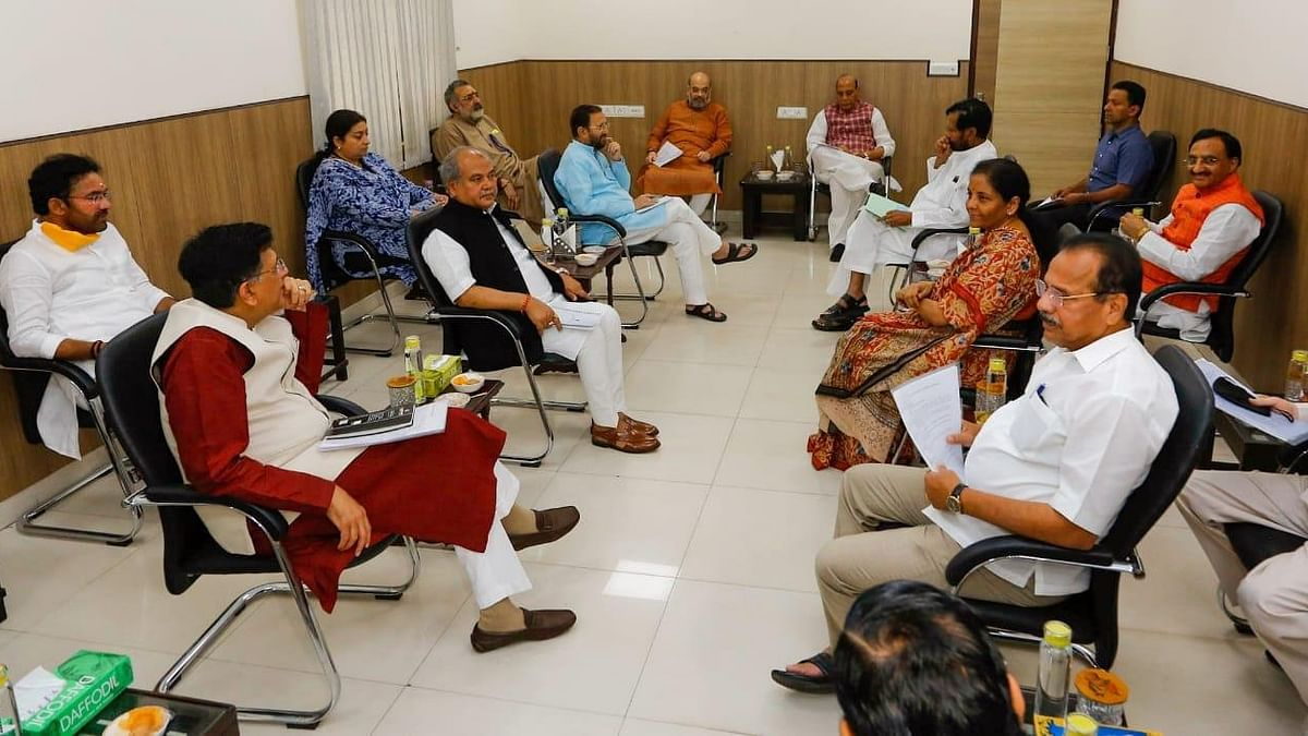 Defence Minister Rajnath Singh on Tuesday, 7 April, chaired a meeting of Group of Ministers.