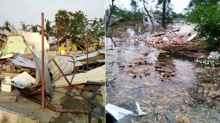 Revenue officials, along with the police, evicted 30 families and destroyed their homes for the Anantagiri reservoir project on Sunday night, amid the coronavirus lockdown.