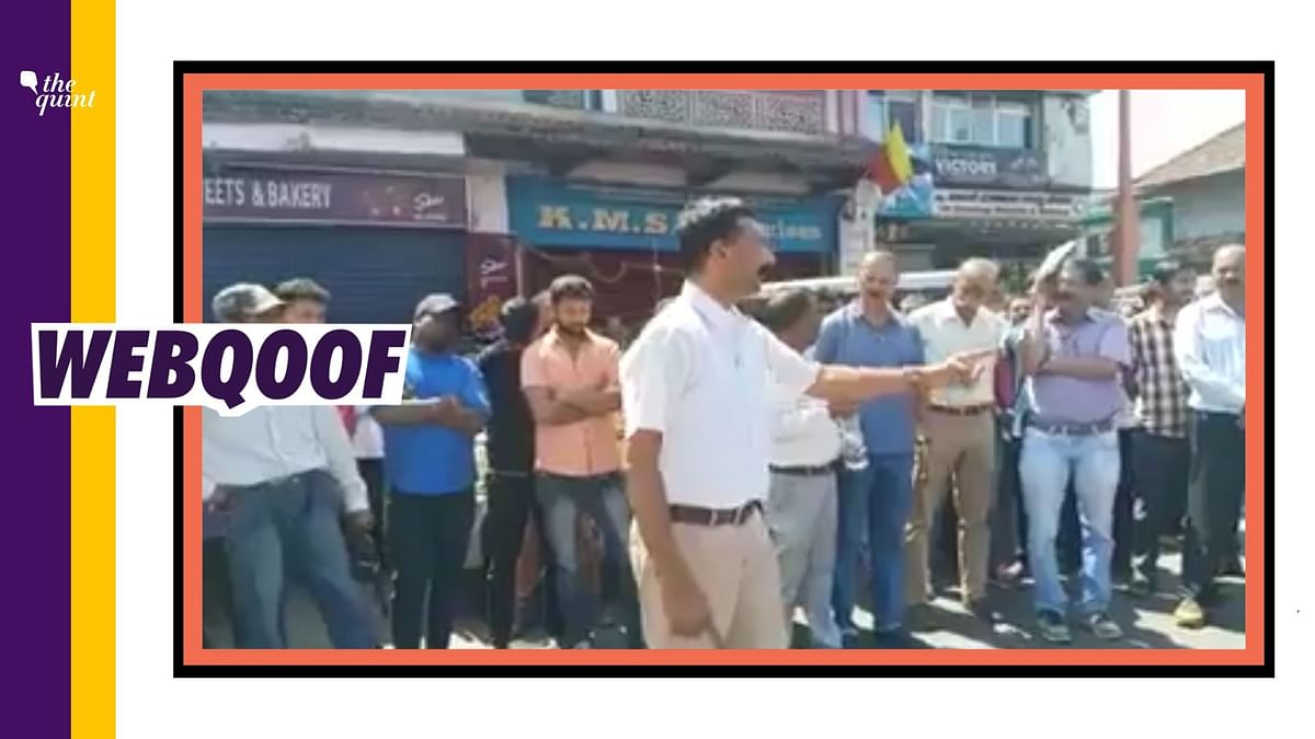 A 2018 video has been re-shared as a call to boycott Muslim businesses in Kodagu, during the COVID-19 lockdown.
