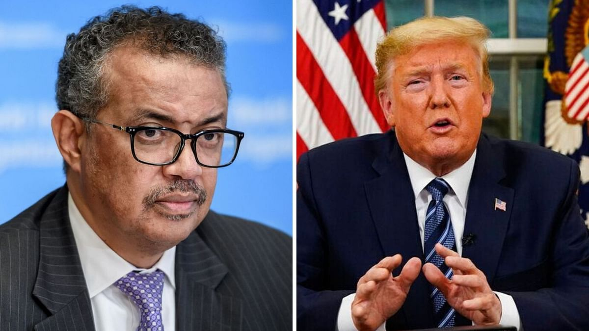 File image of WHO Director-General Tedros Adhanom Ghebreyesus and US President Donald Trump.