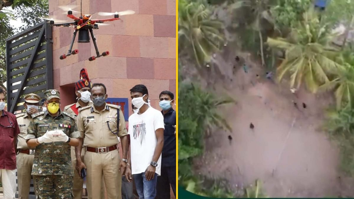 Kerala Police Tweets Amusing Drone Footage of Lockdown Violators
