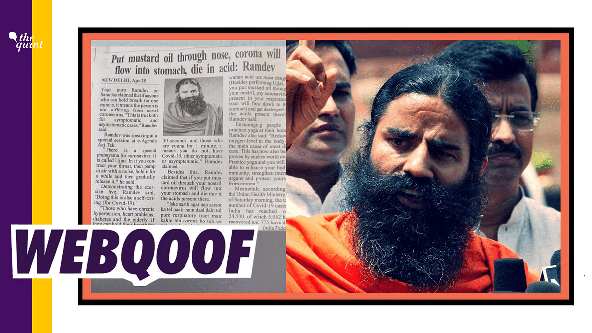 Mustard Oil  Helps Fight COVID? Ramdev's Claim Lacks Medical Proof