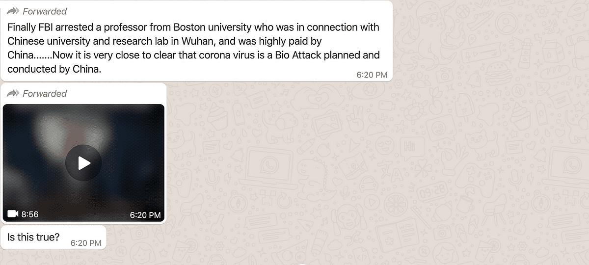 Screenshot of the viral post.