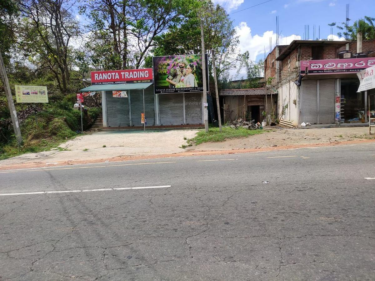 Roads left deserted in Kandy.