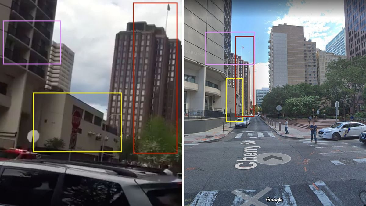 We were able to identify the location seen in the viral video as the same as the one suggested in the article on '911 Breaking'.
