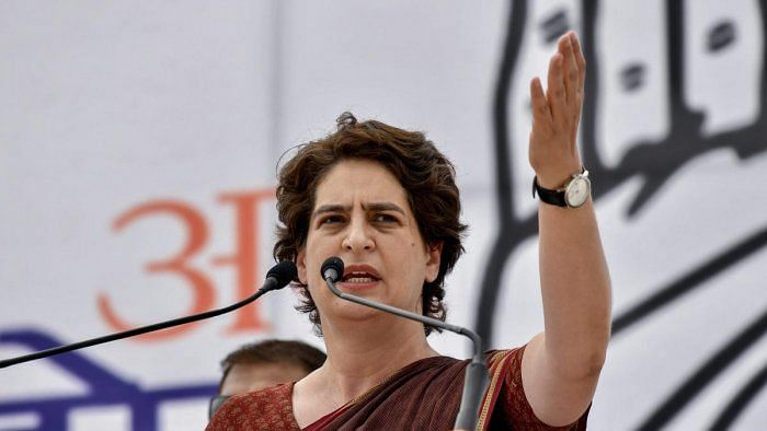 Congress leader Priyanka Gandhi.