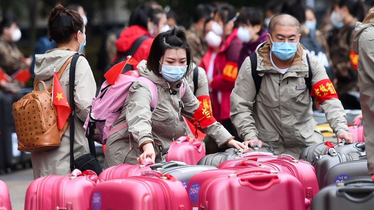 Medical workers in Wuhan, China, ready to leave the city when the coronavirus broke out. (Representational image)
