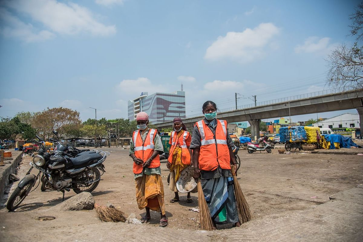 Like their counterparts elsewhere, contract sanitation workers in Chennai work with little or no serious protection.