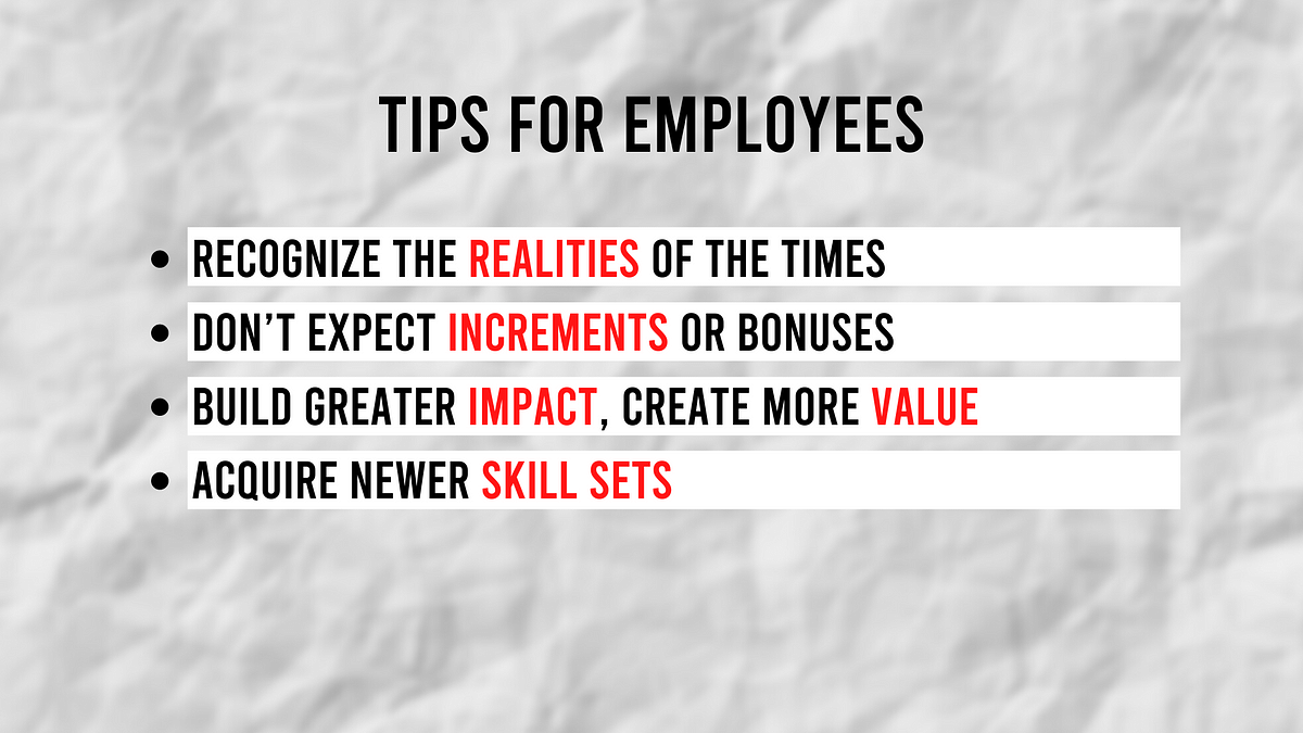 Prabir Jha's suggestions for employees wondering what's next.