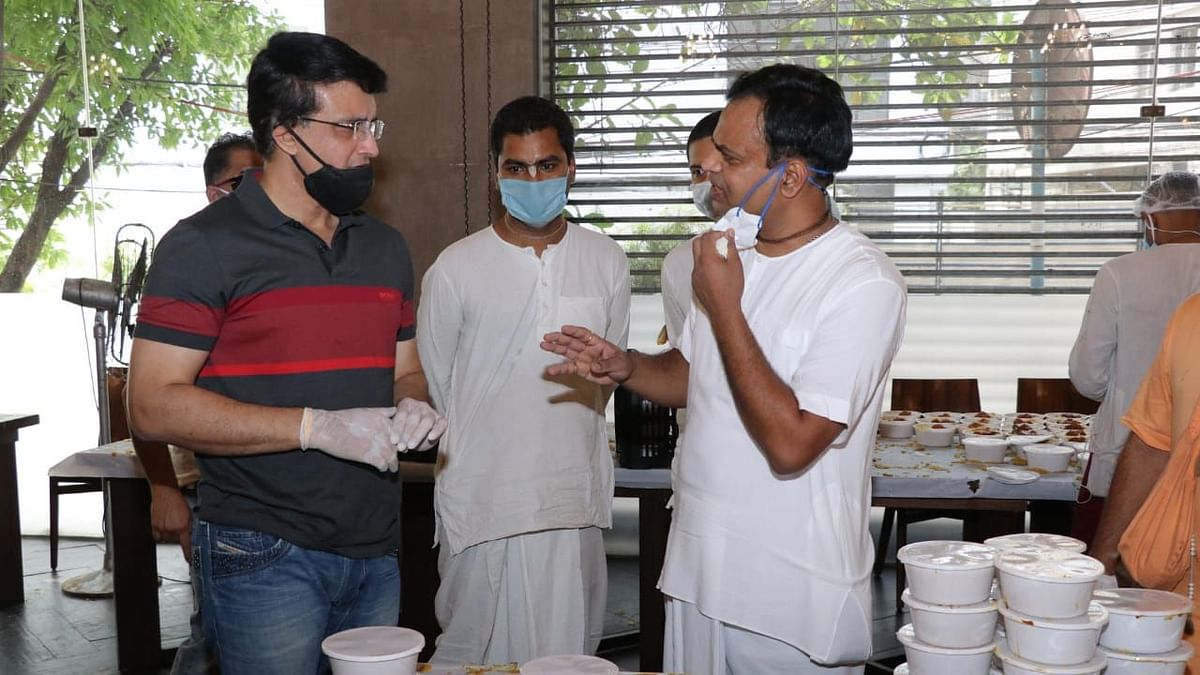 BCCI president Sourav Ganguly made a donation to help ISKCON's Kolkata centre feed an added 10,000 people everyday.