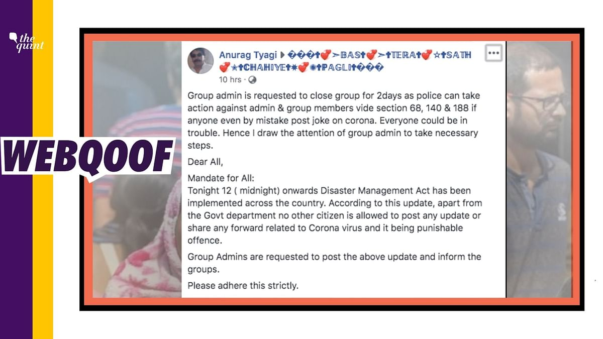 Action Against WhatsApp Admins Over COVID-19 Jokes? Hoax Alert!