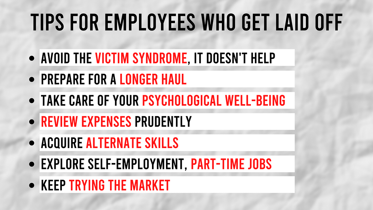 HR strategist Prabir Jha's tips for employees who end up getting laid off.