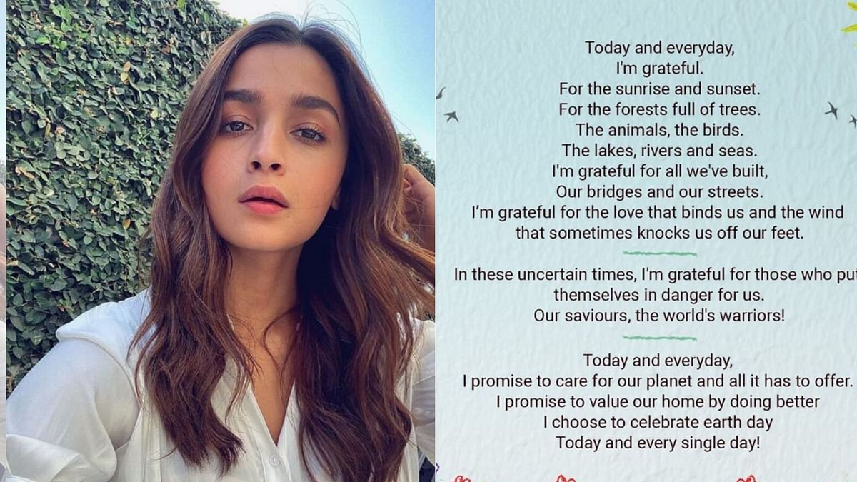 Alia Bhatt wrote a poem for Earth Day