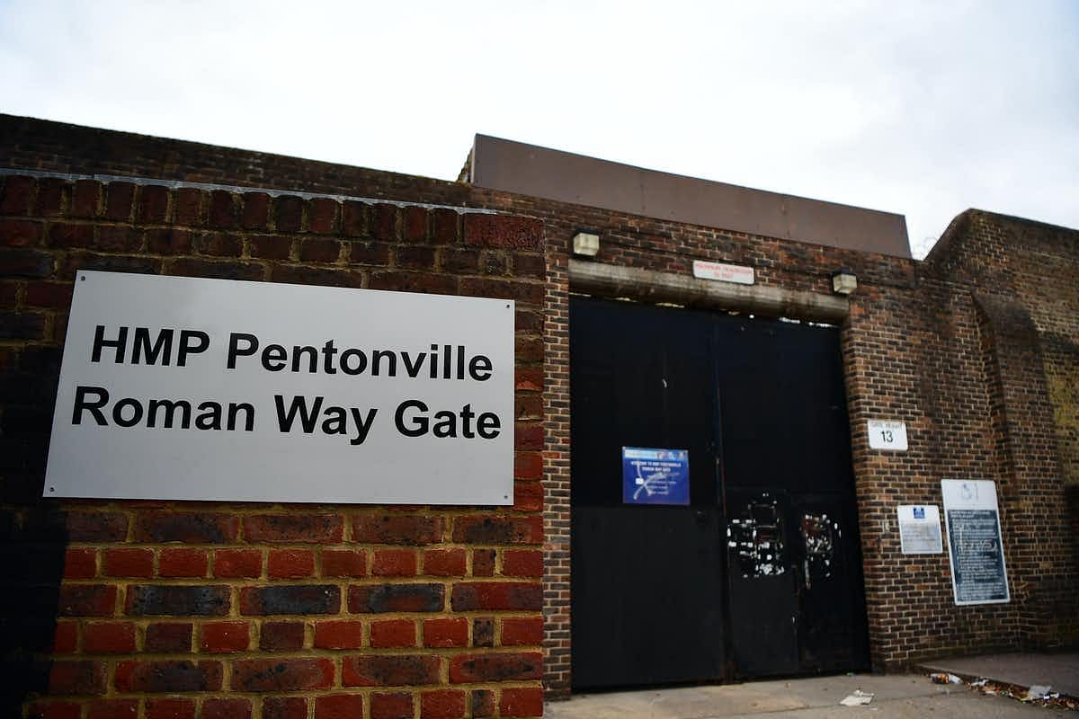 HMP Pentonville, London, where two staff members were reported to have died after suffering COVID-19 symptoms.