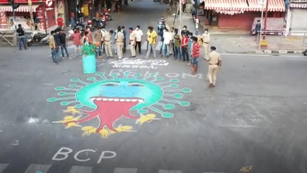 After Corona Helmets, COVID-19 Art to Raise Awareness in Bengaluru