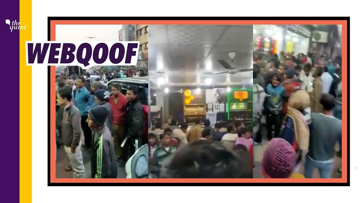 Viral Clip of Mayhem Outside Delhi Liquor Store – It is From Feb