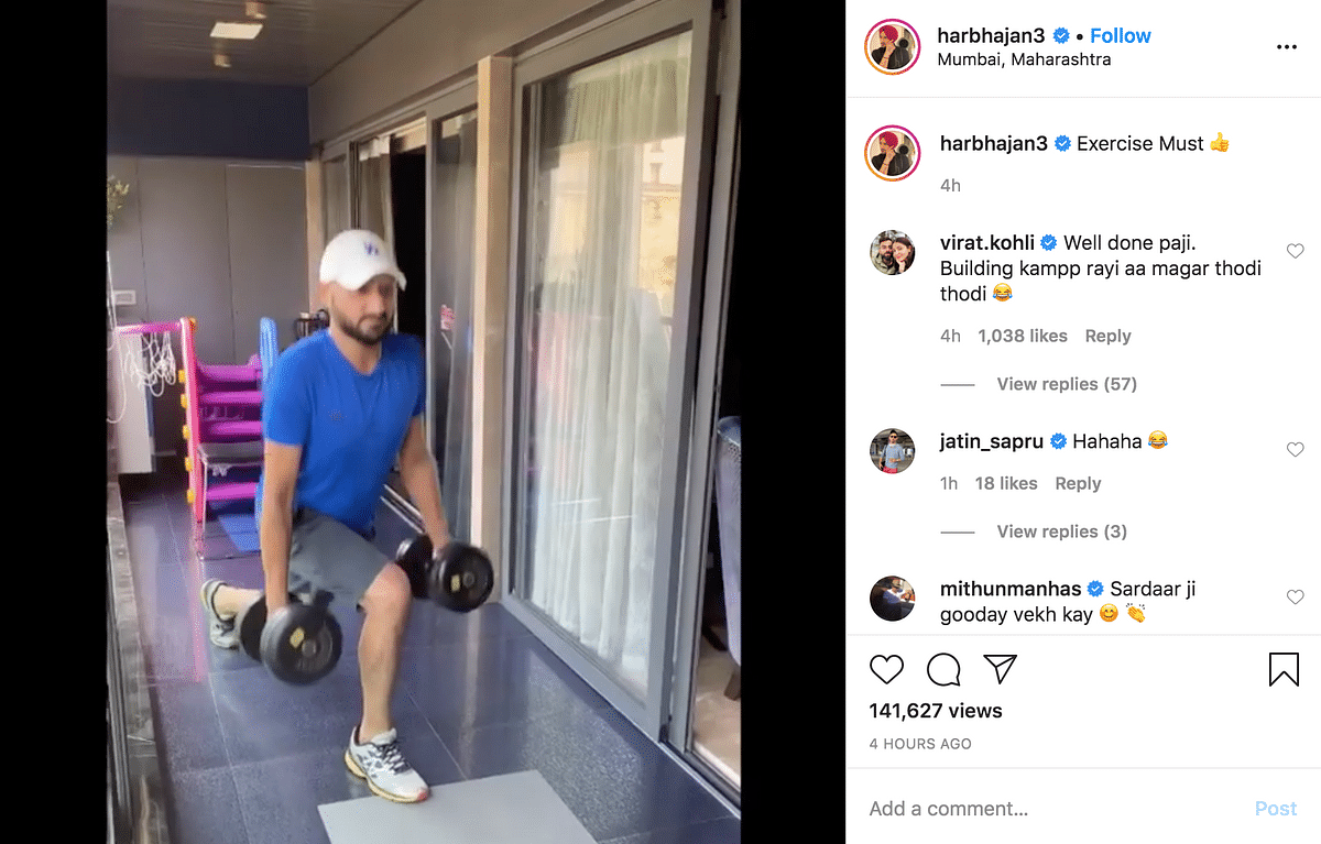 Kohli Trolls Harbhajan After Spinner Shares Work-Out Video