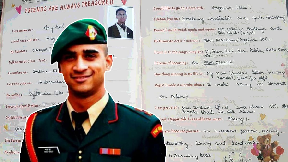 'I Dream Of Being In The Army': Major Anuj Sood's Friends Recall