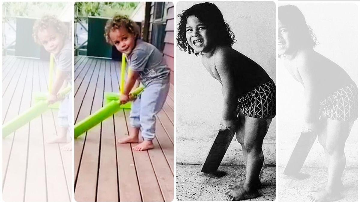 Sachin Finds Resemblance Between Himself & Brian Lara's Son