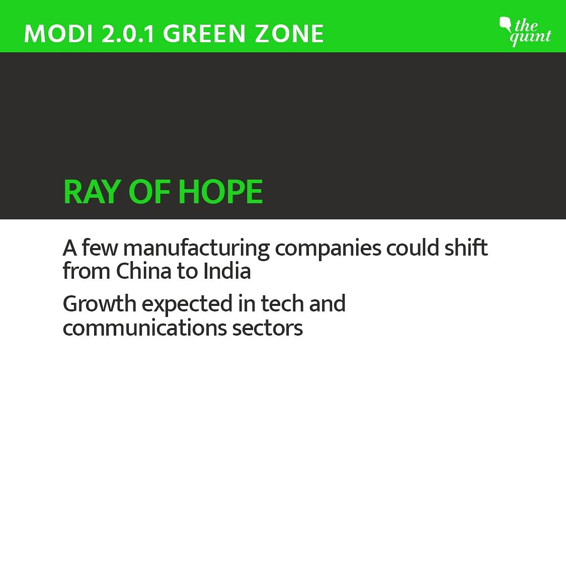 Companies shifting from China might give India a ray of hope.