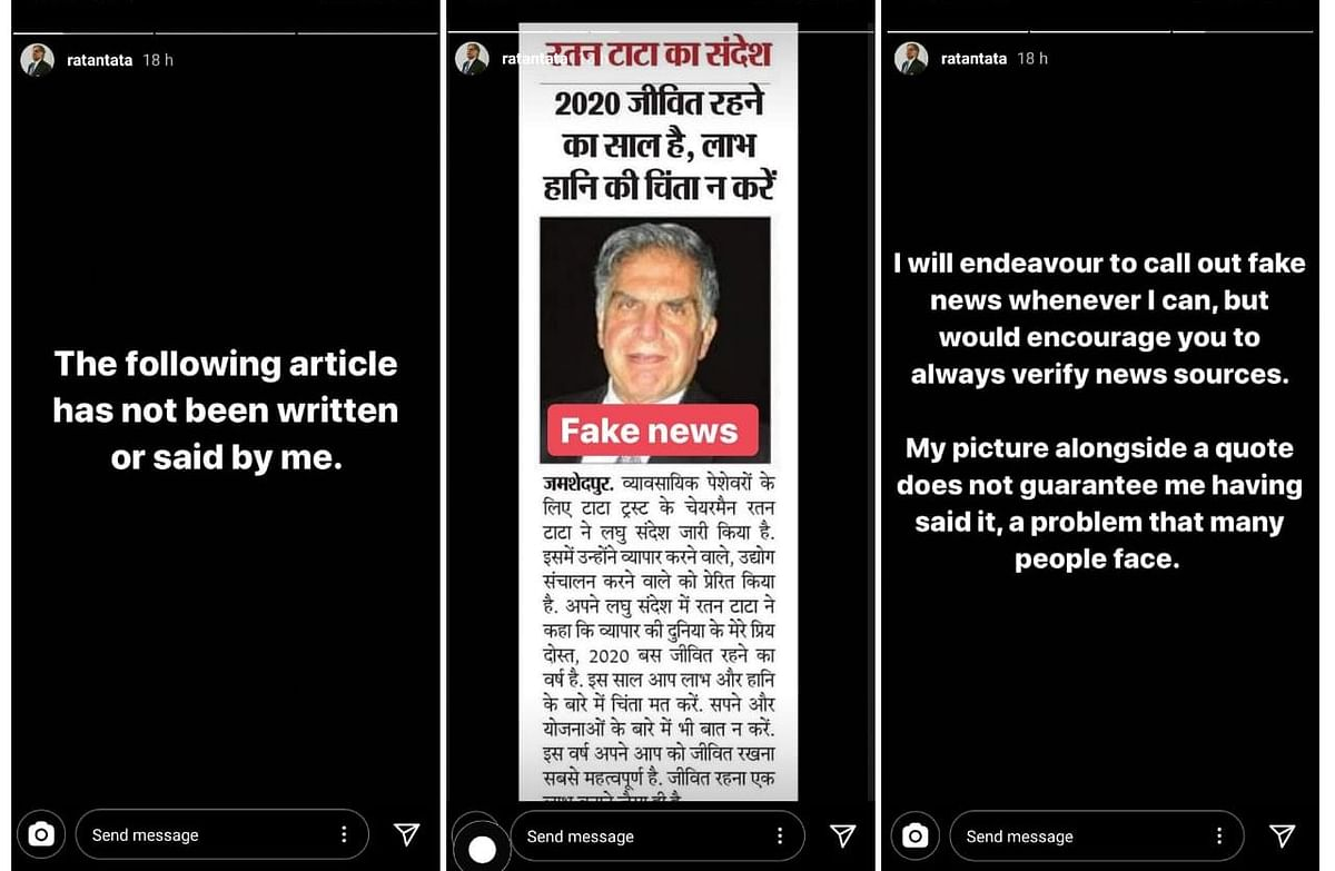 COVID-19: Another Fake Quote Attributed to Ratan Tata Goes Viral
