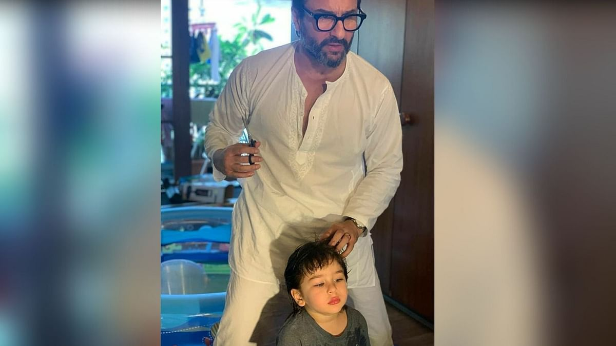 Taimur Gets A New Haircut From Abba During Lockdown