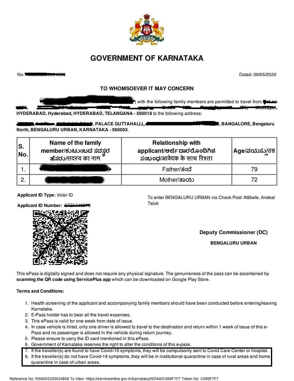 K'taka Govt Sends Back Returnees Unable to Pay For Quarantine