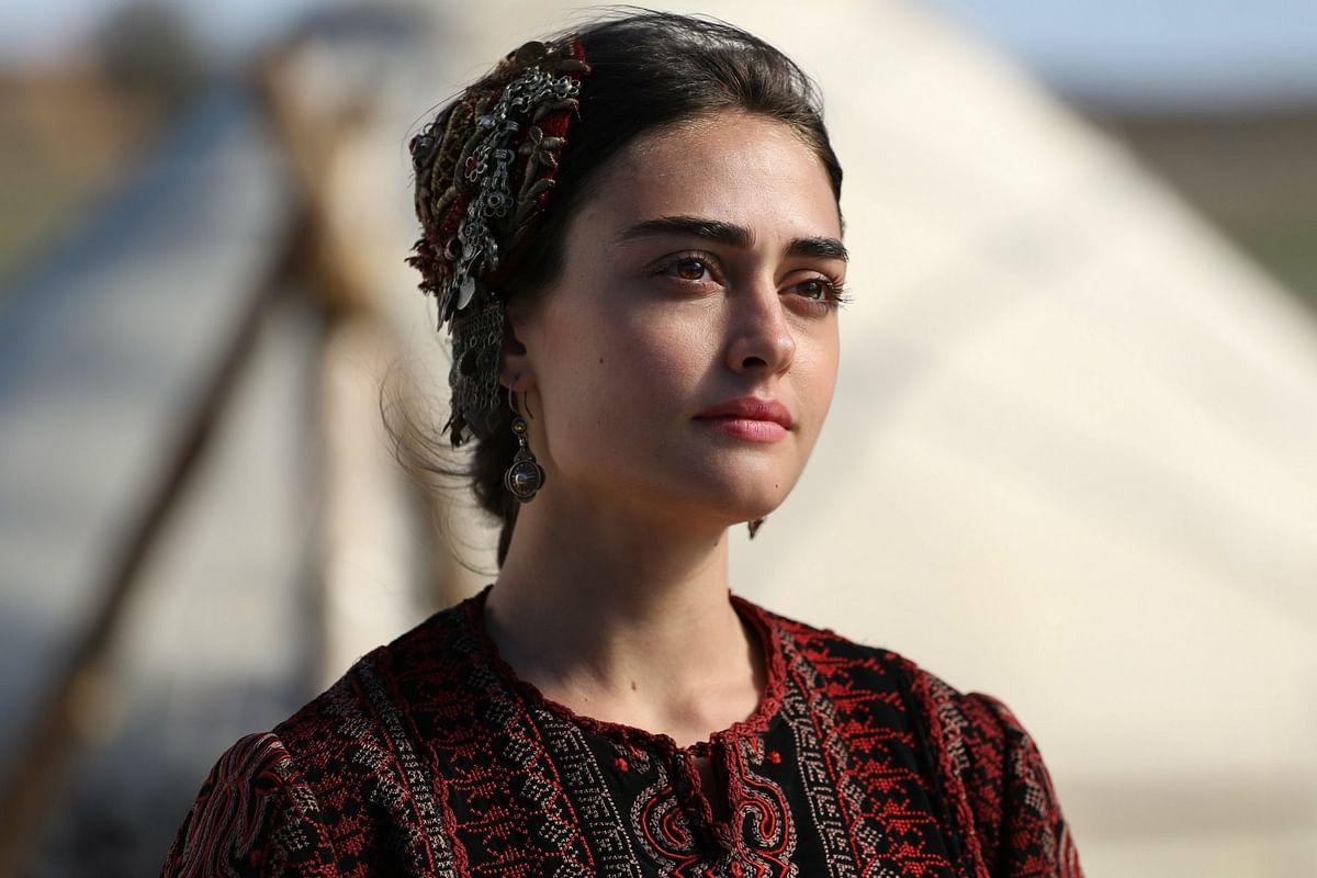 Esra Bilgic as Halime Sultan in Ertugrul.