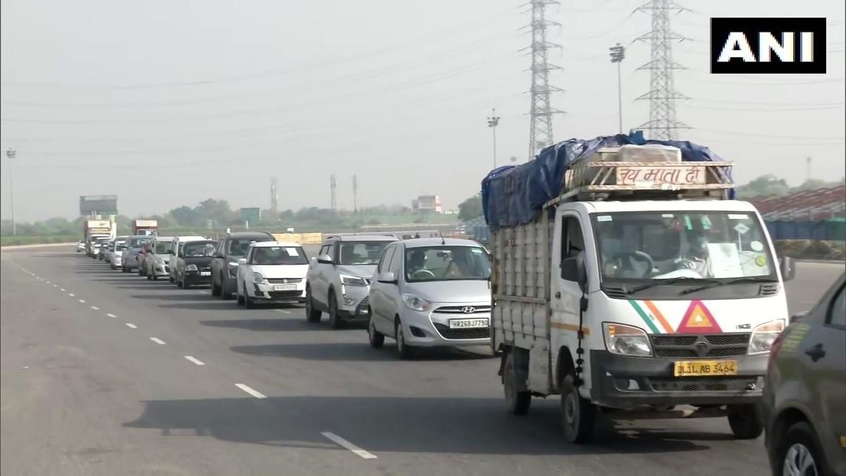The announcement has caused traffic jams at the Dehli-Gurugram border.