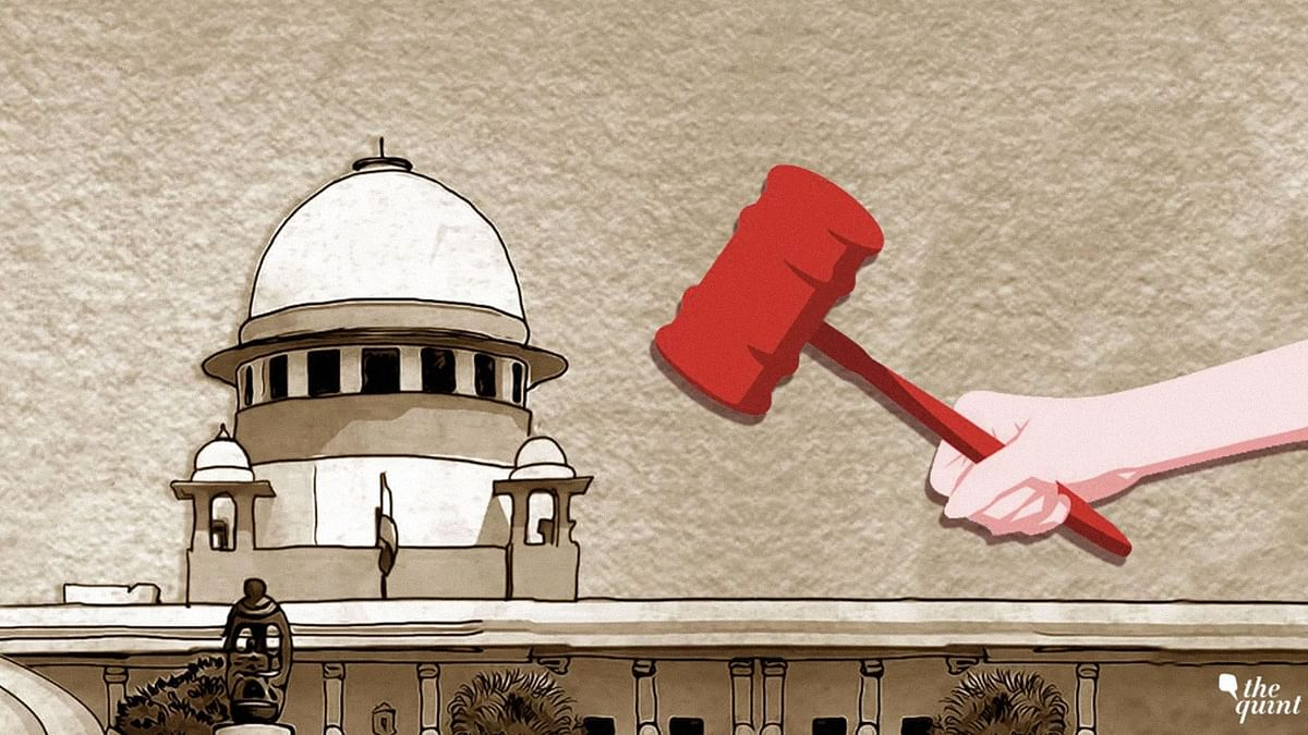 The image represents the Supreme Court of India.