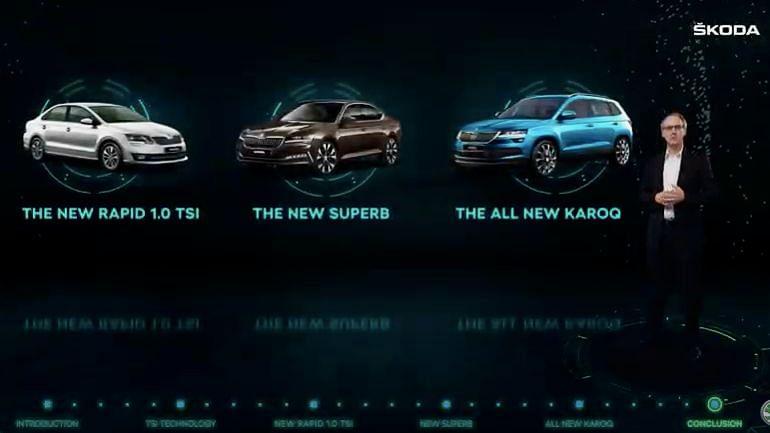 Skoda had a digital launch for its three new vehicles.