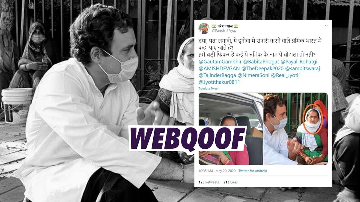 Images of Rahul Gandhi meeting migrants in Delhi are being shared with misleading claims.