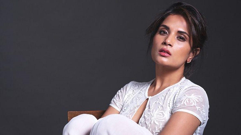 Richa Chadha shot for a sci-fi film at home.
