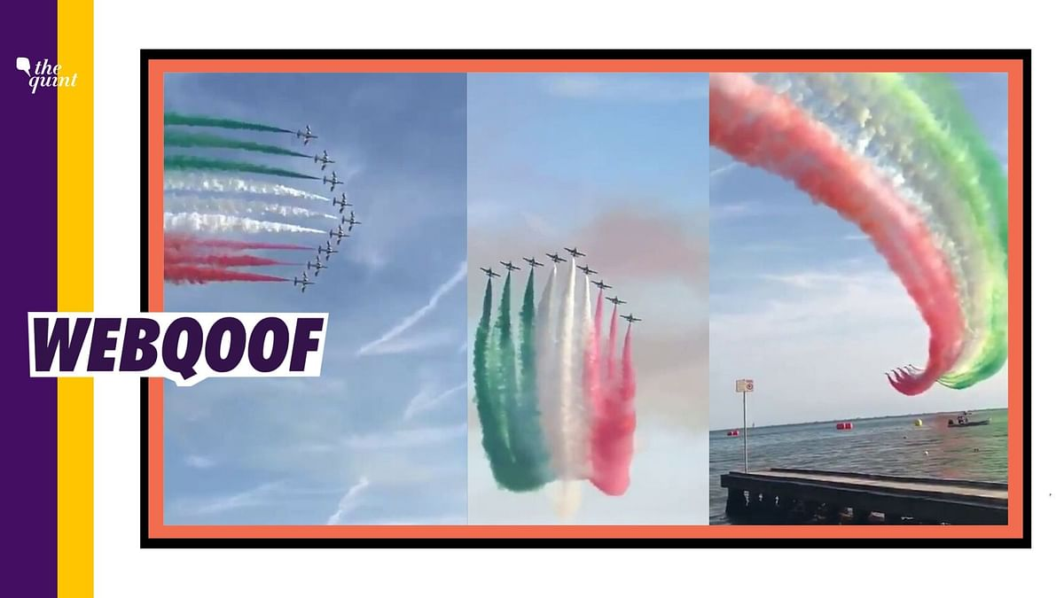 Video From Italy Shared as IAF Paints Sky in National Flag Colours
