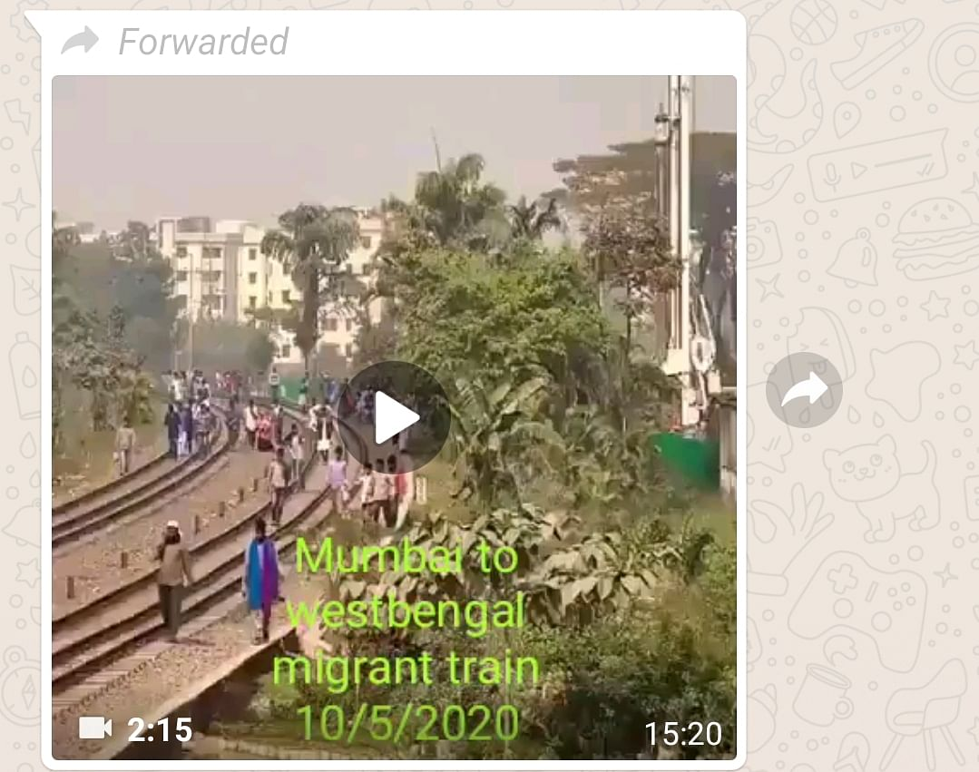 Overcrowded Train Carries Migrants From Mumbai to WB? Video is Old