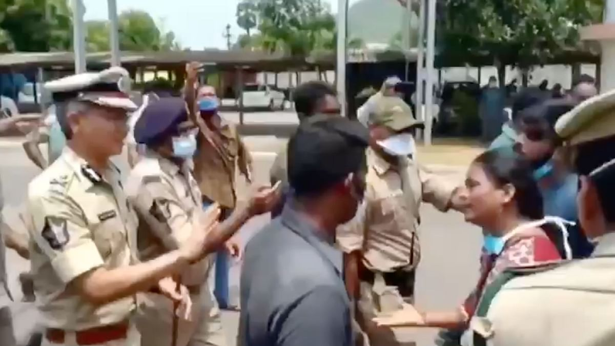 Lakshmi folded her hands begging the police to hear their cries.