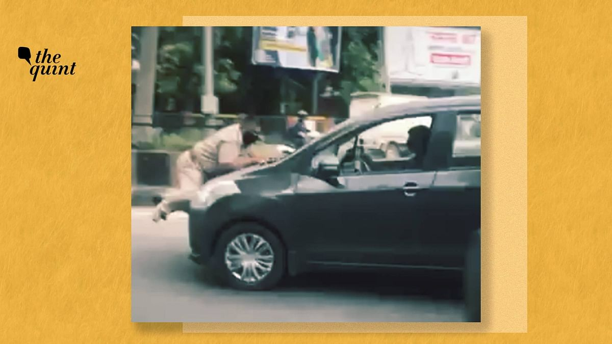 A car driver dragged a police officer on duty, on his car's bonnet, in Punjab's Jalandhar.